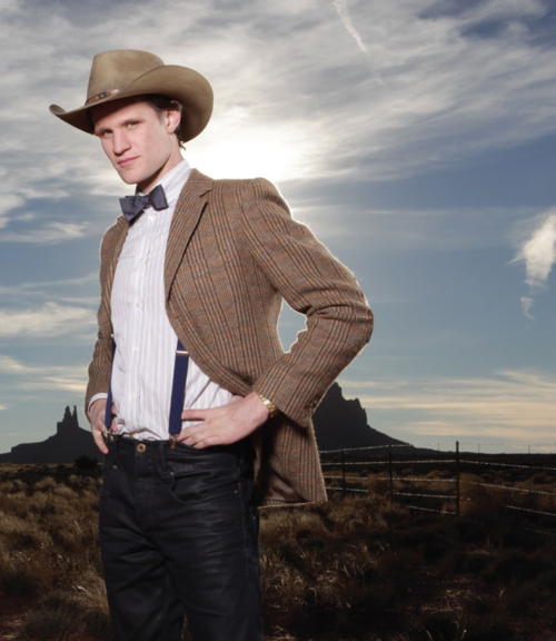 Only Matt Smith Can Wear Suspenders A Bow Tie And A