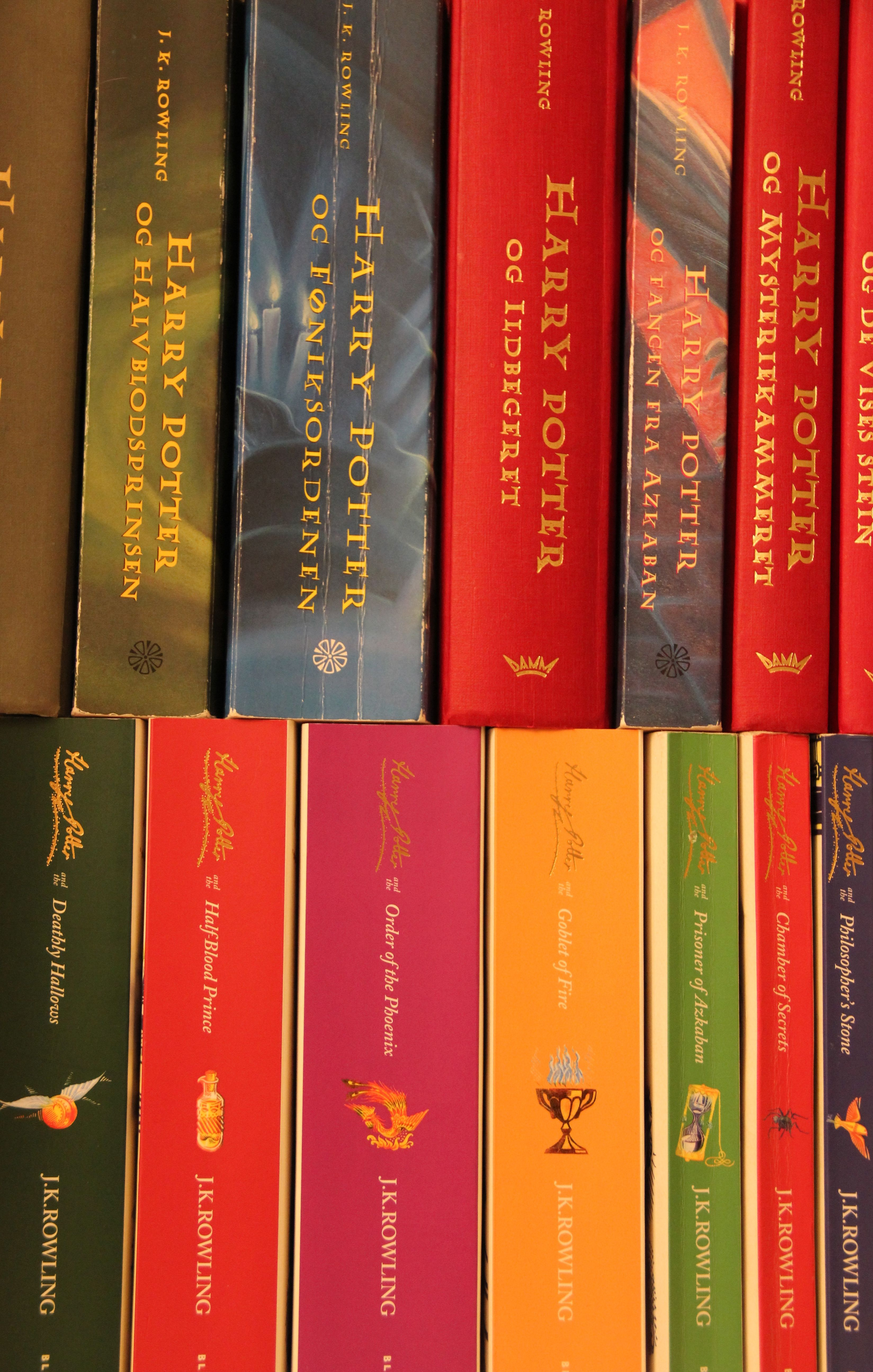 All The Harry Potter Books In English And Norwegian Harry Potter Books Harry Potter