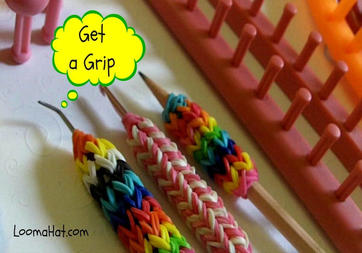 Knitting Loom Uses : How to make a grip for your hook pencil or tool using