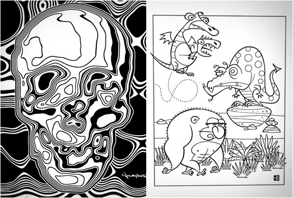 outside the lines wicked cool coloring book - Outside The Lines Coloring Book