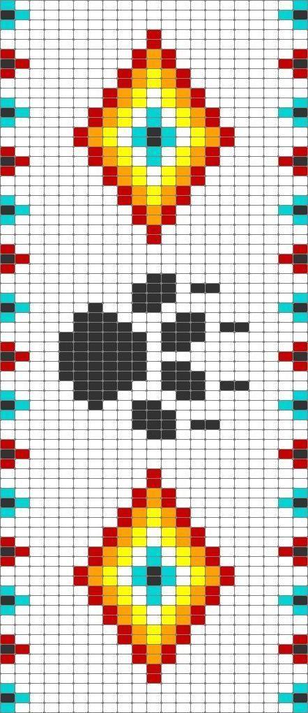 Wayuu Mochila Pattern Weben Mit Perlen Muster Indianischer Perlenschmuck Perlenarmband Muster