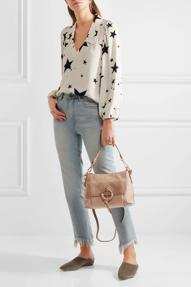 6ac7746cc2 Blush textured-leather and suede (Cow) Zip fastening along top Comes with  dust bag Weighs approximately 0.2lbs/ 0.1kg Imported