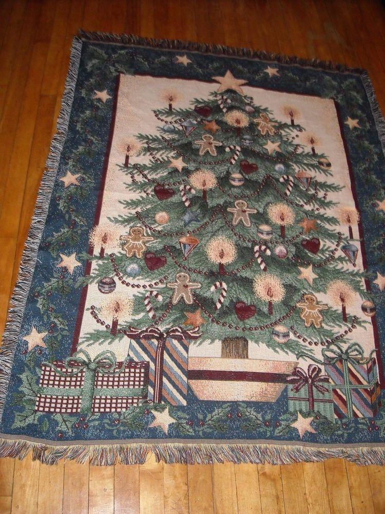 tapestry like christmas tree blanket