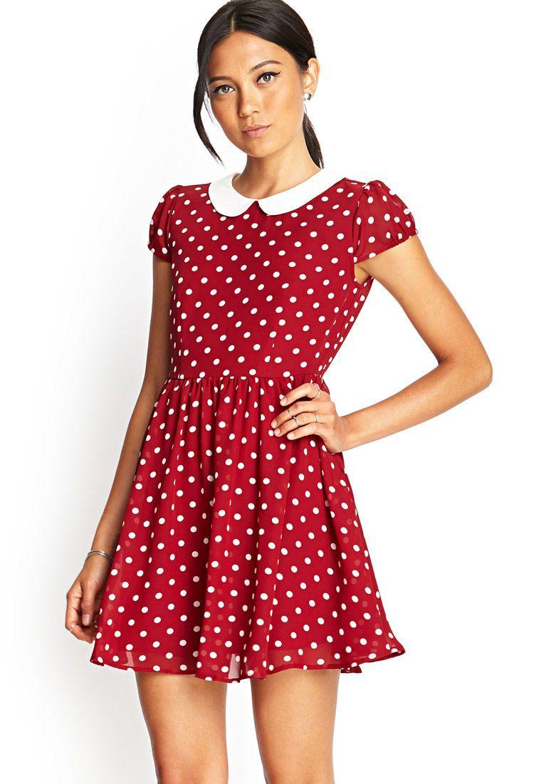 9c0af855df27 Polka Dot Fit   Flare Dress