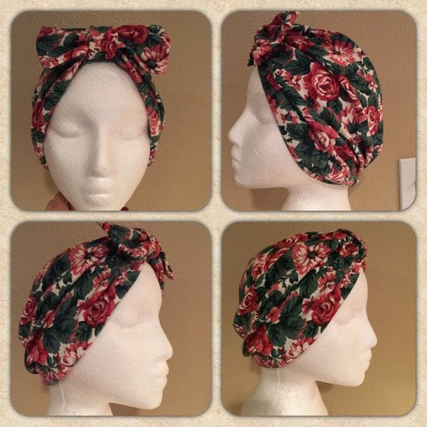 Jean Turban in Fall Floral by LaceyRoseCreations on Etsy https://www.etsy.com/listing/248125682/jean-turban-in-fall-floral