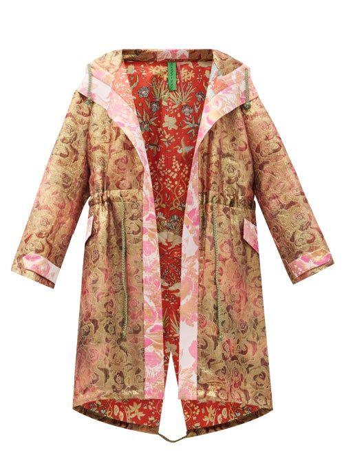 Rianna + Nina - Vintage Silk-brocade Hooded Coat -