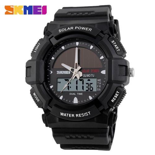 7f878940d4c1 SKMEI Solar Power Analog-Digital Wristwatch Outdoor 5ATM Water Resistant  Men Sports Army Military Watch