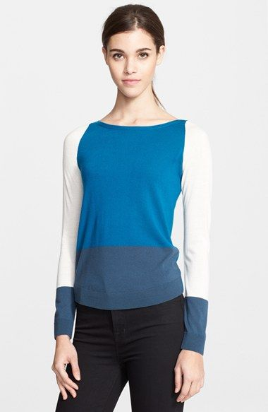 Akris punto Colorblock Sweater available at #Nordstrom