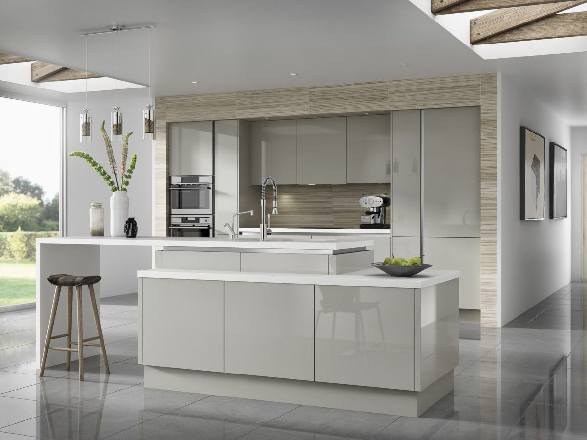 Light Grey With A Hue Of Brown Kitchen Cabinets It S