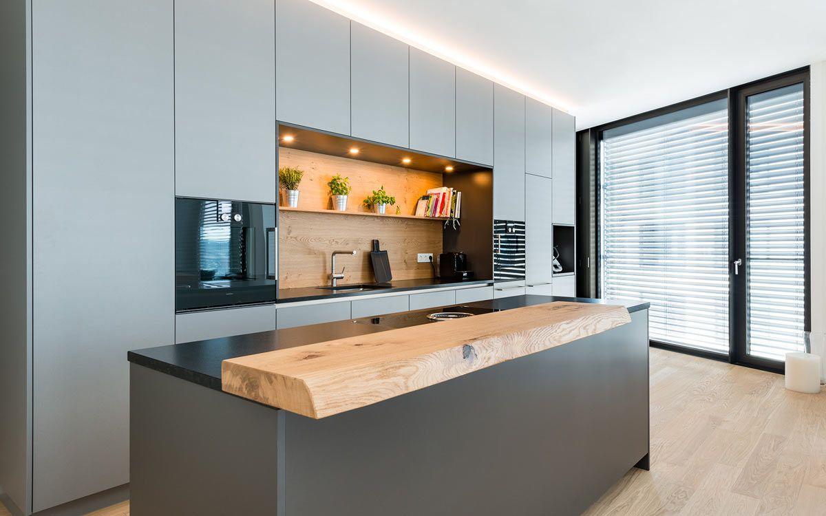 Loftküche in grau | Pinterest | Manufaktur, Grau und Küche