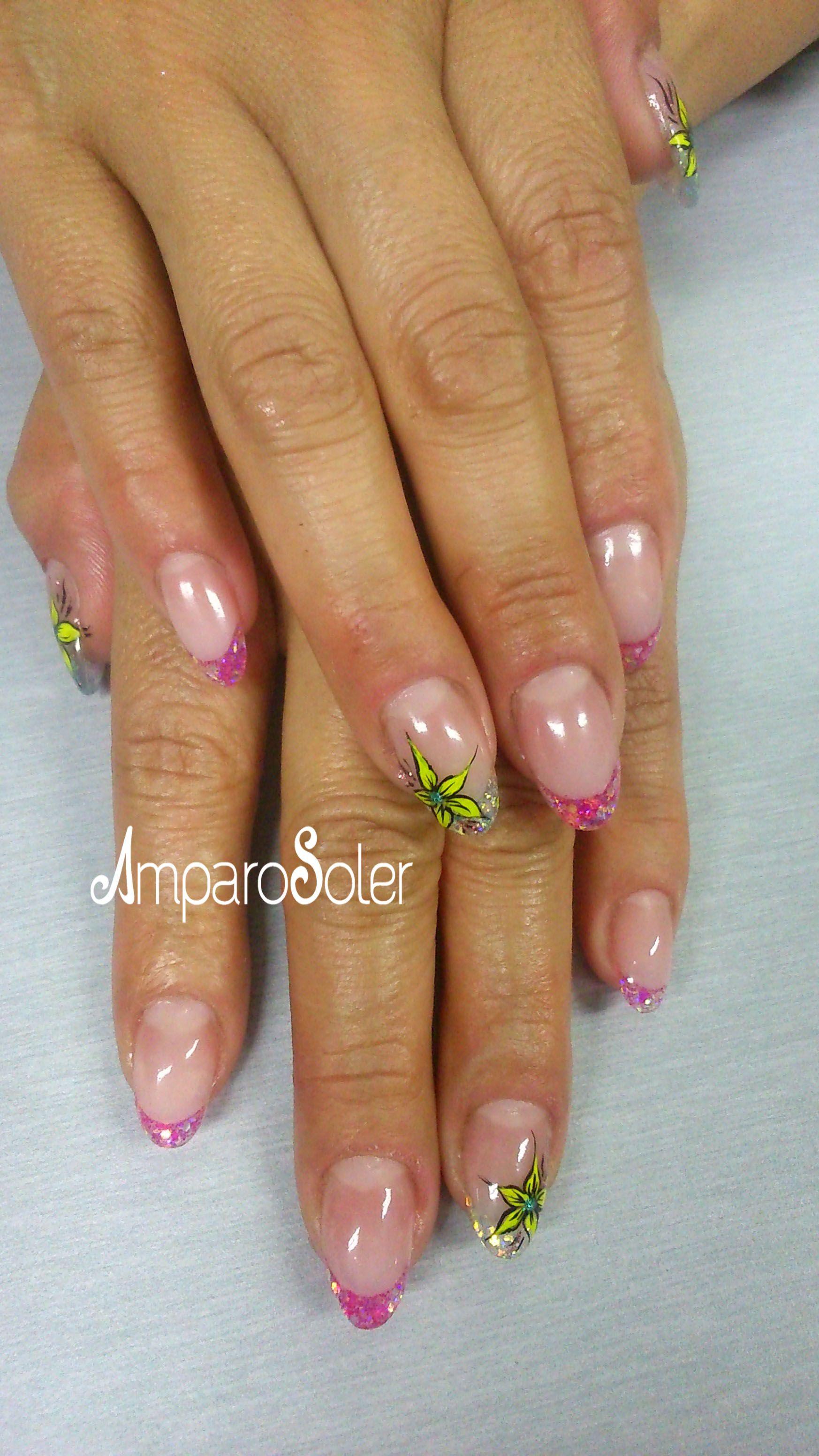 Uas Acrlicas Con Cover Peach, Perfect Pink, Clear Y Para -4653