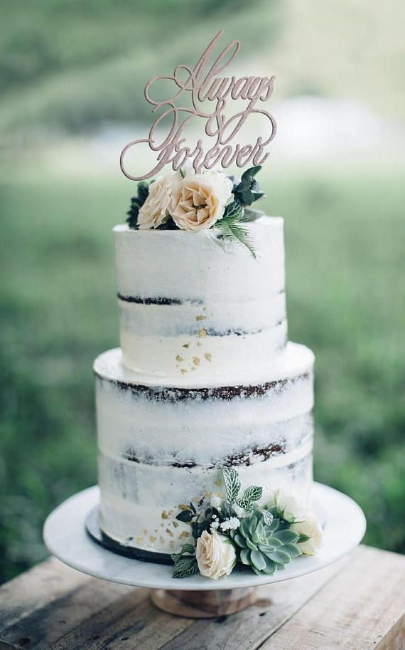Anniversary Cake Topper, Vow Renewal Cake Topper, Always and Forever Wedding Cake Topper, Always & Forever, Wedding Cake Topper – Wedding Cake Inspo