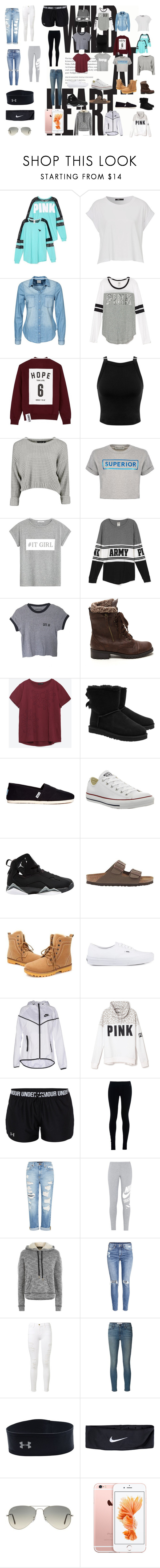 """Wild"" by omg-its-katie ❤ liked on Polyvore featuring Victoria's Secret, Vero Moda, Studio Concrete, Miss Selfridge, Être Cécile, MANGO, Zara, UGG Australia, TOMS and Converse"