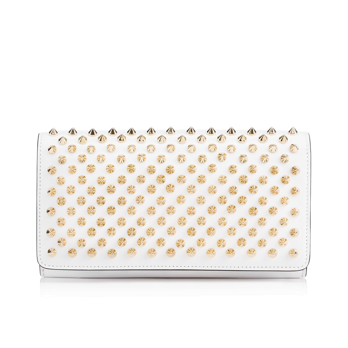 e843ad17a24 CHRISTIAN LOUBOUTIN Macaron Continental Wallet With Flap, White ...