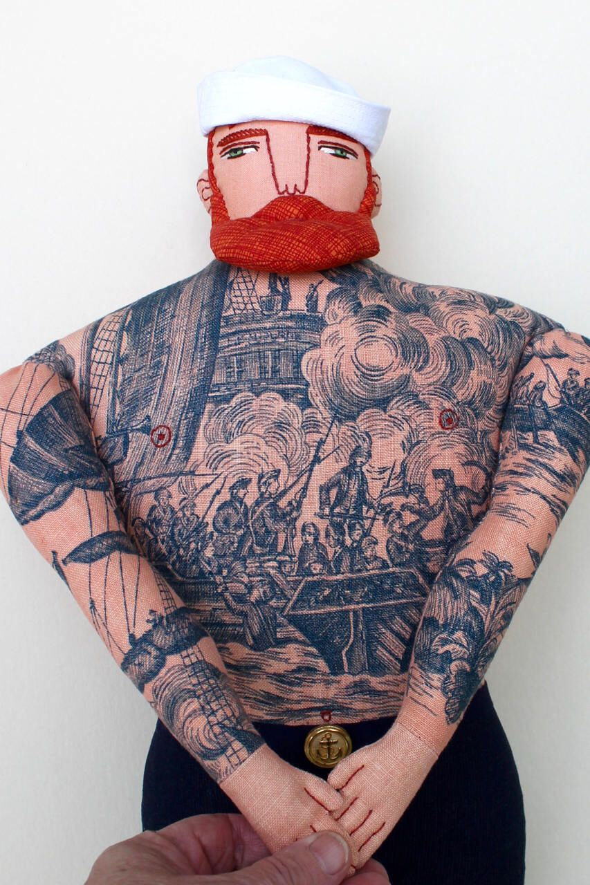 Black Baby Doll Tattoo: Big Red-haired Sailor Man With Nautical Tattoos And Beard