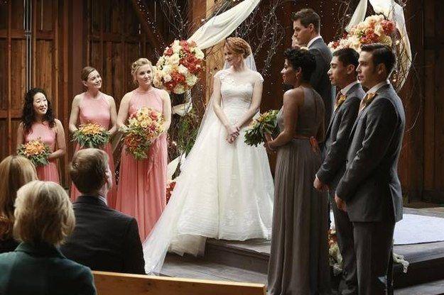 Community Post 28 Of The Most Memorable Tv Wedding Dresses Ever Greys Anatomy April Greys Anatomy Season Greys Anatomy