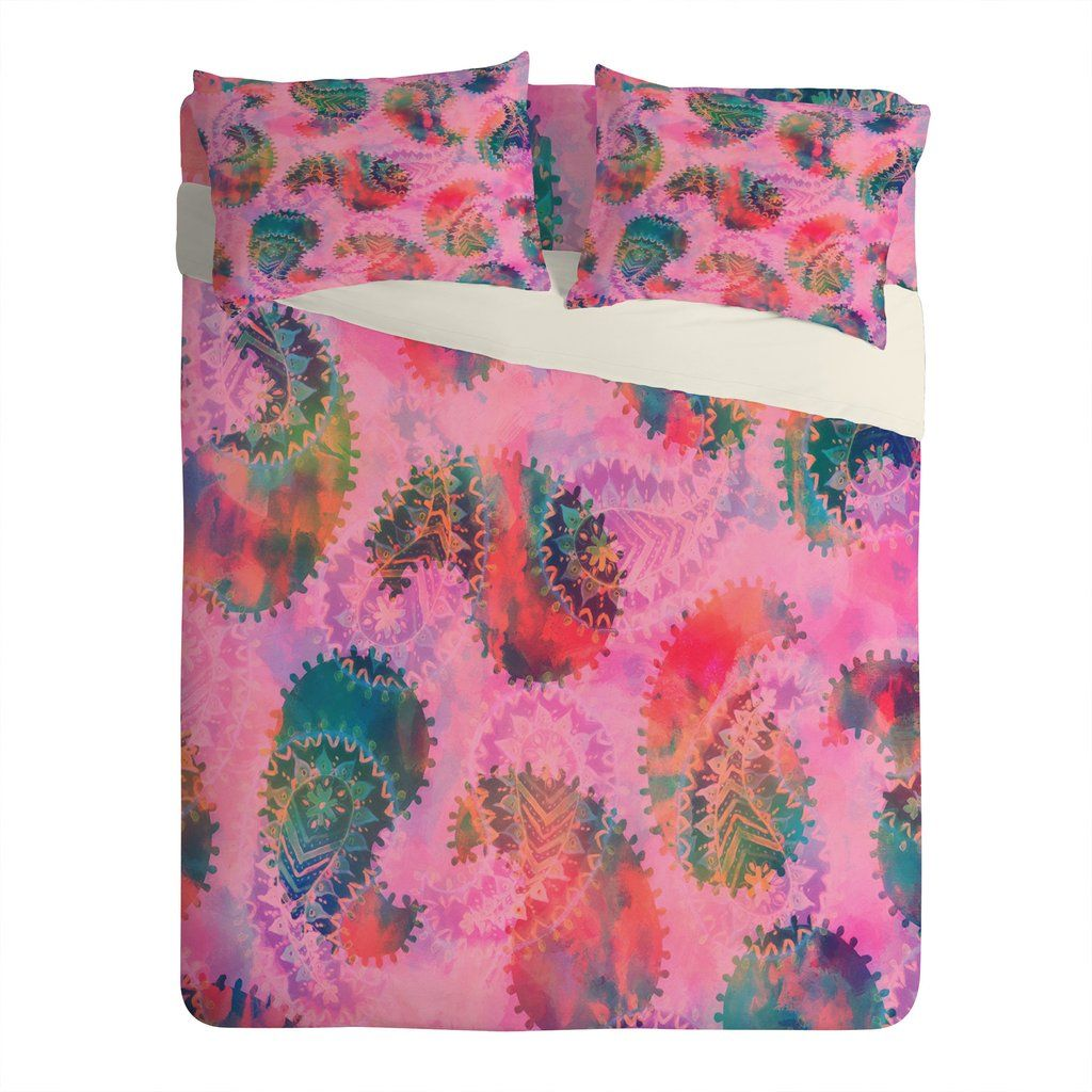 Schatzi Brown Anushka Paisley Pink Sheet Set Lightweight   DENY Designs Home Accessories
