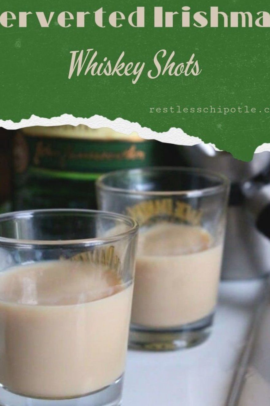 What better way to celebrate Saint Patrick   s Day than with a Perverted Irishman  Whiskey Shot recipe  that is  Irish Cream and Jameson Irish whiskey blend to a smooth  sweet blast of goodness in your mouth  #Jameson #whiskey #irishcream #stpatricksday #stpatsday #shots #whiskyshots #cocktails #recipes #fun