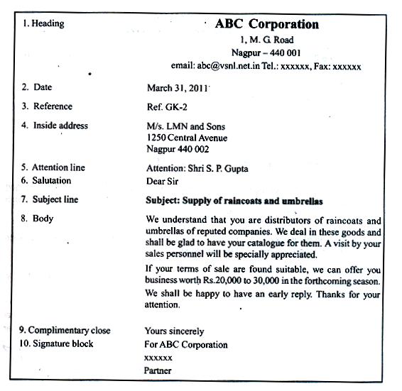 formal business letter block format