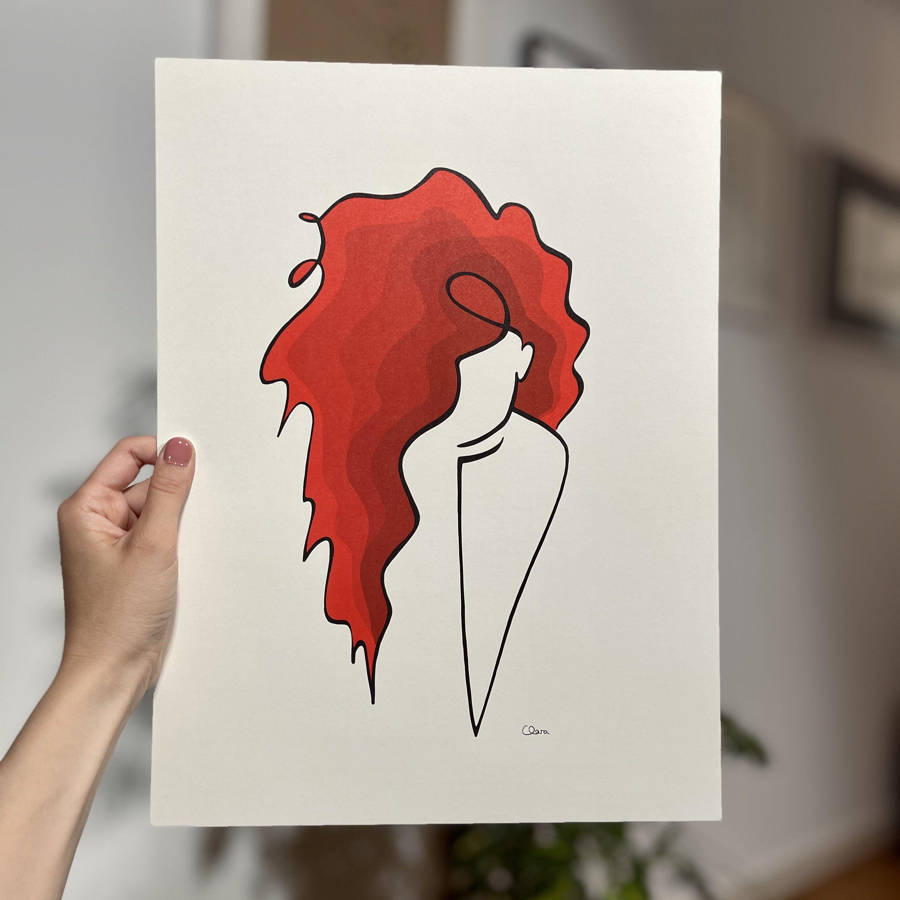REDHEAD *Limited Edition* Die Frau mit den roten Haaren 30x40 cm | Munken pure cream white Nummeriert von 1 bis 100 ♥ Handsigniert auf der Rückseite ♥ Achtung! Dynamisches Preismodell: Der Preis steigt mit jeder Nummer um 5€ Die Nr. 1 von 100 kostete 50€ Die Nr. 100 von 100 kostet 545€ Papier Munken Pure creme weiß, 300g . Versandkostenfrei .Schnelle Lieferung2-3 Tage Formate30x40 cm ♥ Made with Love ♥ Wenn dir dieses Motiv gefällt, gibt es keinen Grund zu zögern. Ich garantiere dir vollste Zufr