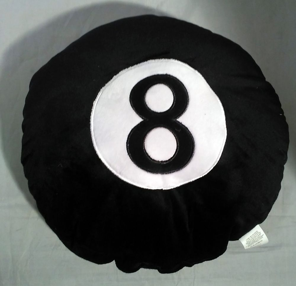 Pillow Cushion 35cm 8 BALL Pool EMOJI Plush SOFT TOY Smartphone Emotions  GIFT  Unbranded 3e04d26be0c6