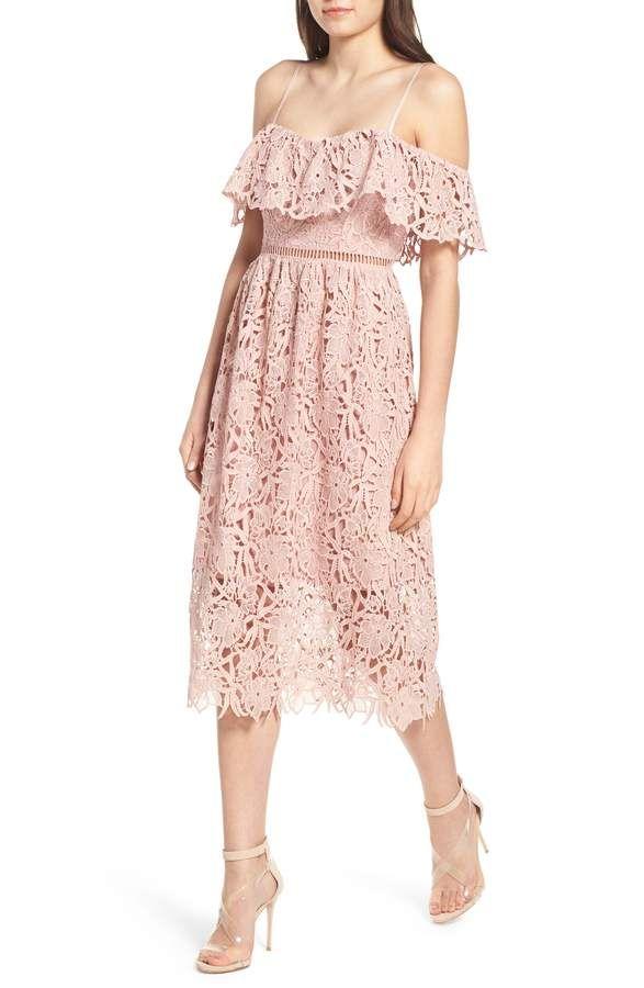 Lace Off the Shoulder Midi Dress | Midi dresses, Shoulder and Nordstrom