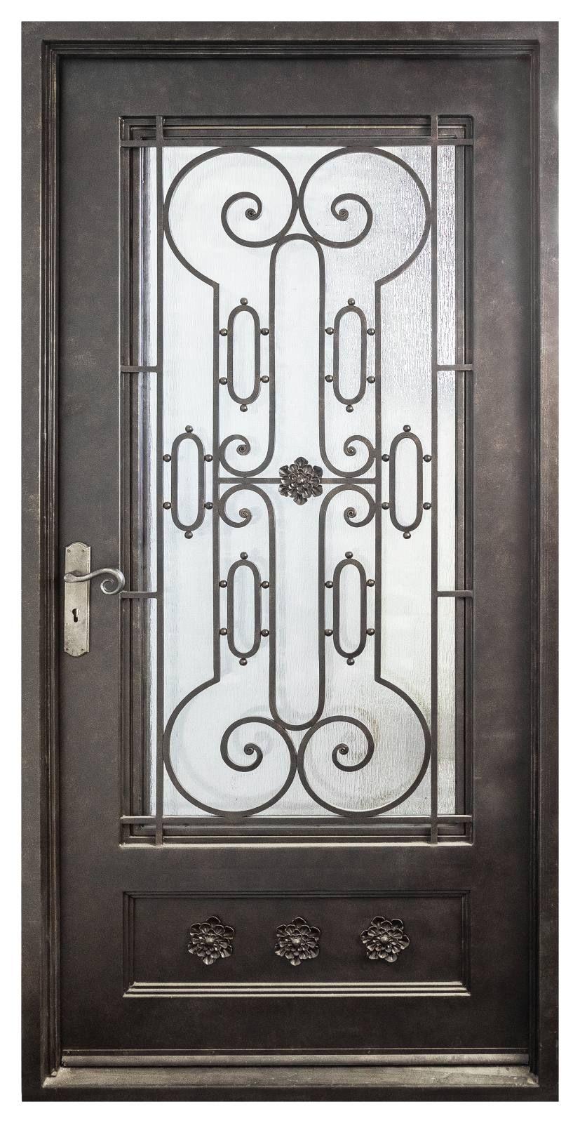 Capri Single Right Hand Entry Door Black Gold Entry Doors Brass Door Handles Brass Door