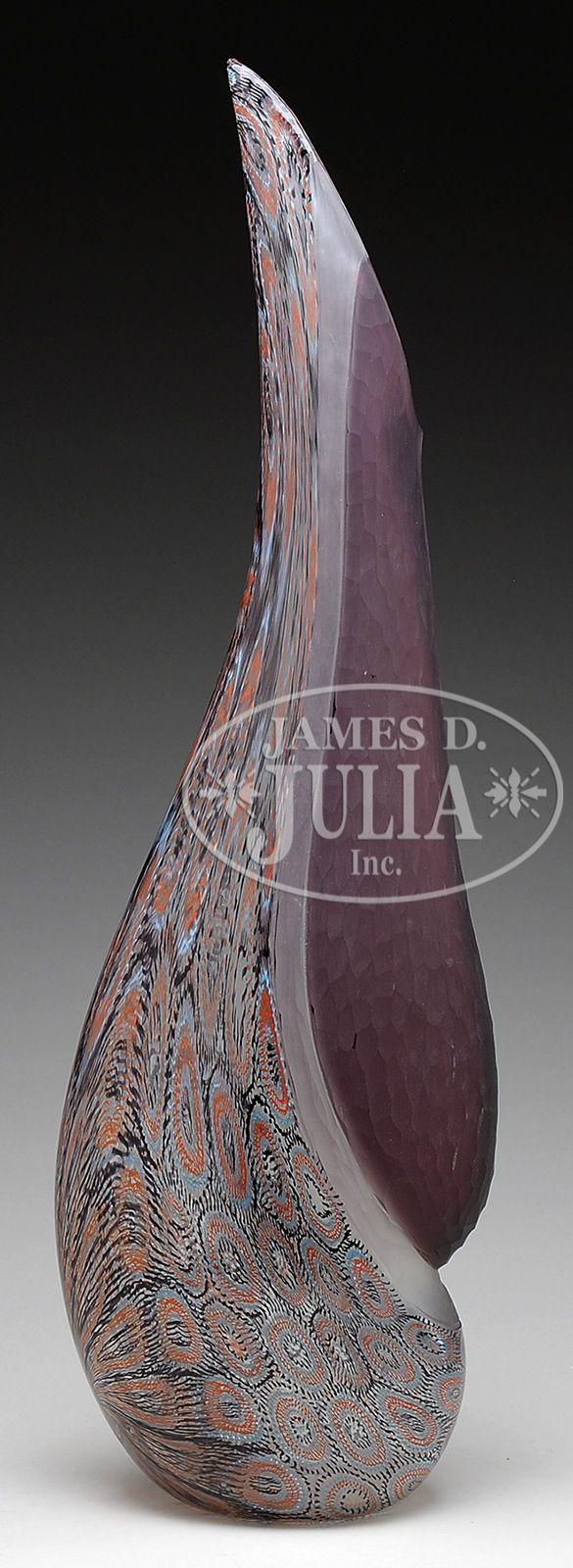 MURANO ART GLASS VASE. Murano art glass vase by artists Campagnol ...