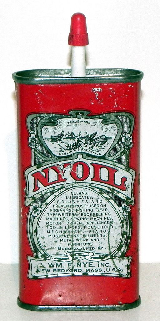 VINTAGE NYOIL HANDY OILER GAS STATION FISHING FIREARMS TOOLS advertising tin | eBay  --perfect!
