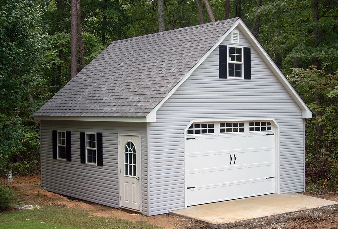 This 20x20 2story garage was built in our shop