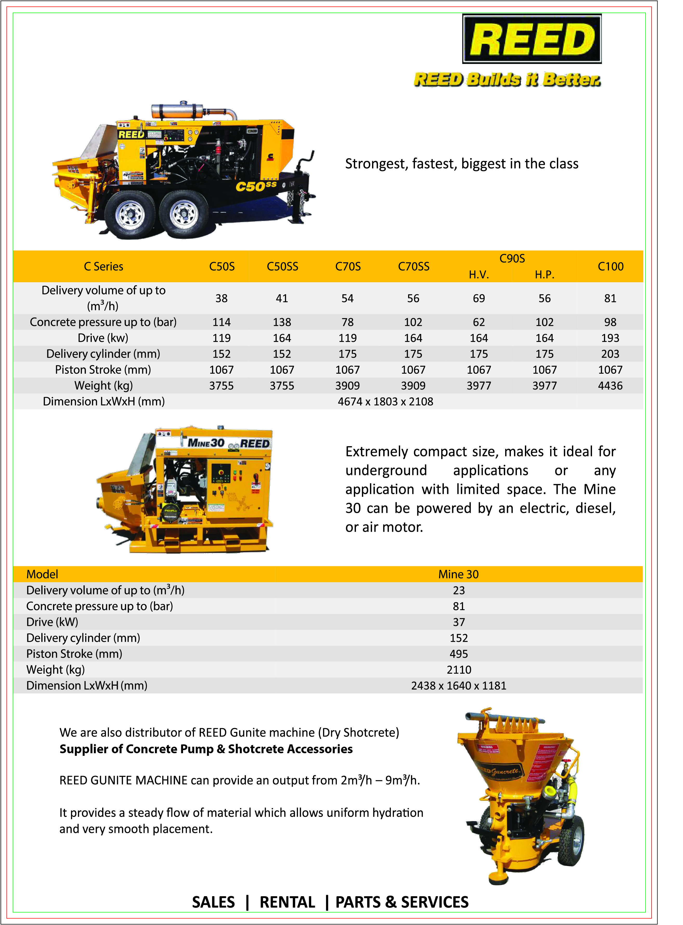 Reed Small Concrete Pump in Singapore. install in the small 3 tons ...