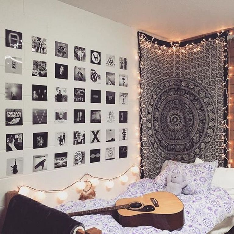 30 Elegant And Easy Diy Wall Decor Ideas For Bedroom Tumblr Bedroom Decor Tumblr Bedroom Bedroom Diy