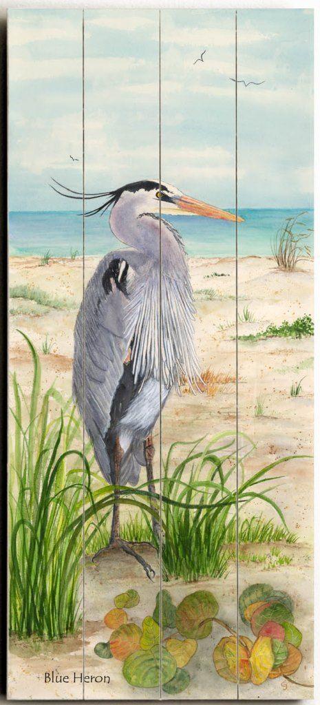 Blue Heron Custom Sign: Beach Decor, Coastal Decor, Nautical Decor,  Tropical Decor