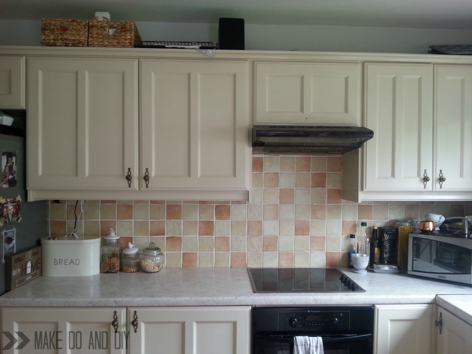 painted kitchen tile backsplash cheap and easy update for dated