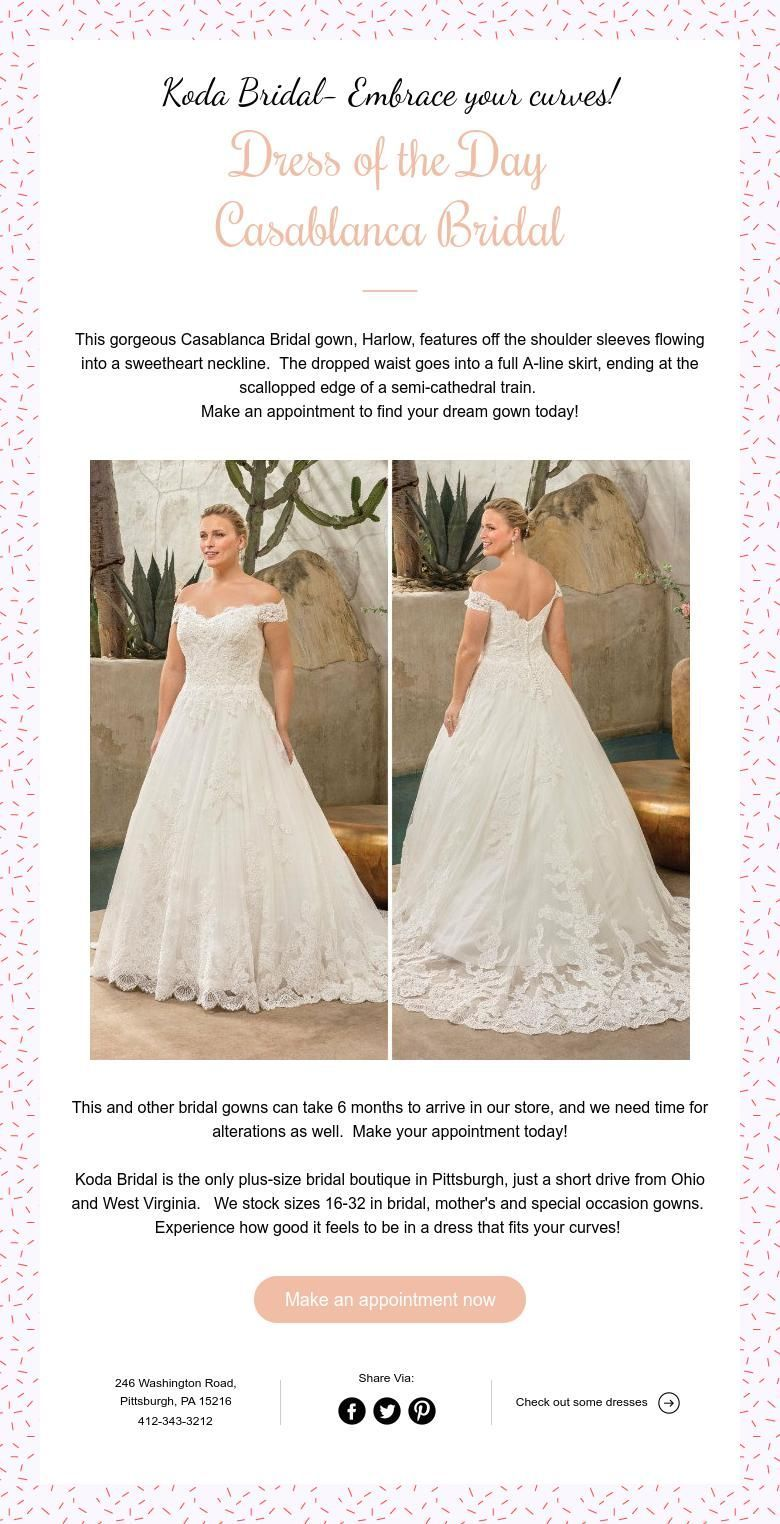 Dress of the Day-Casablanca | Wedding Dresses at Koda Bridal-A plus ...