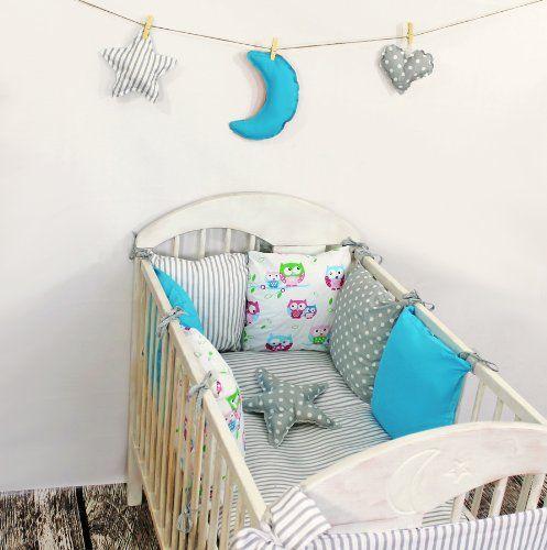 baby nestchen bettumrandung 210 cm design9 bettnestchen kantenschutz kopfschutz f r babybett. Black Bedroom Furniture Sets. Home Design Ideas
