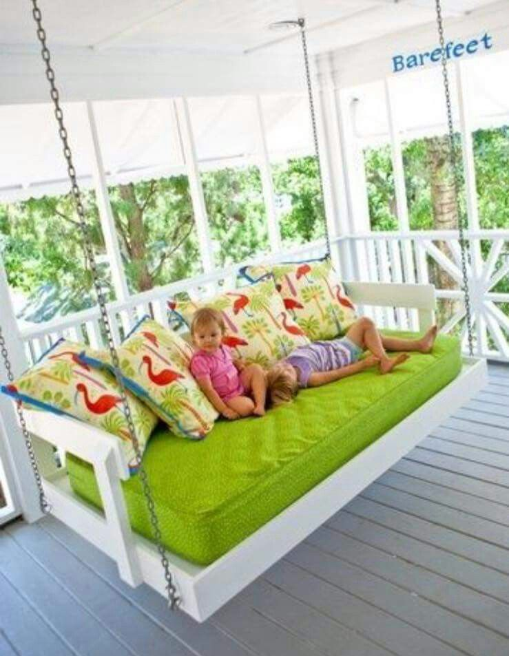 Porch Swing Made Out Of Baby Crib Home Home Decor Home Diy