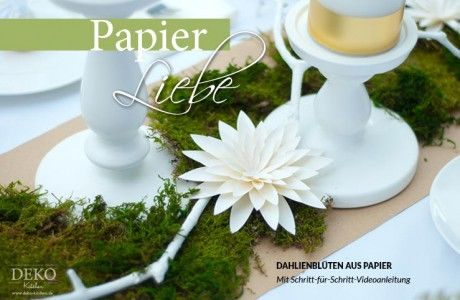 diy dahlienbl ten aus papier deko kitchen basteln pinterest papier basteln mit papier. Black Bedroom Furniture Sets. Home Design Ideas