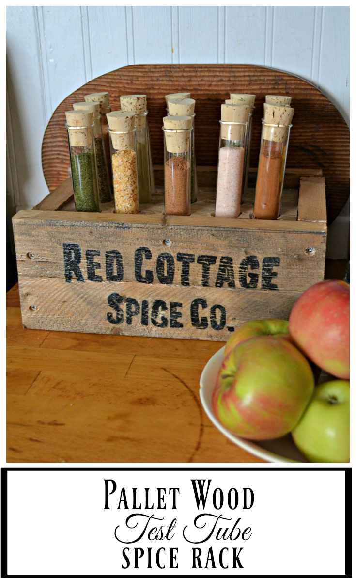 This Diy Pallet Spice Rack Uses Test Tubes To Hold Spices Pallet  # Diy Pallete Cuisine