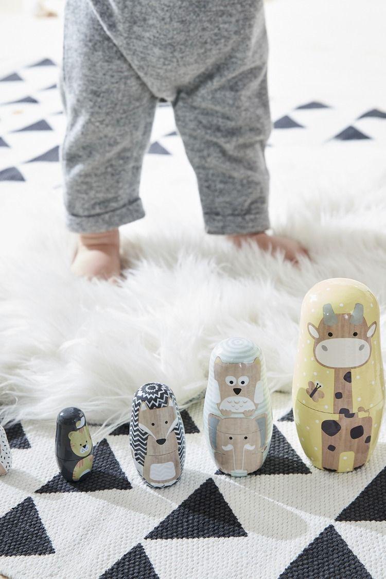 30629318bfc665 Boites  gigognes  animaux en  bois Les célèbres  poupées  russes se ...