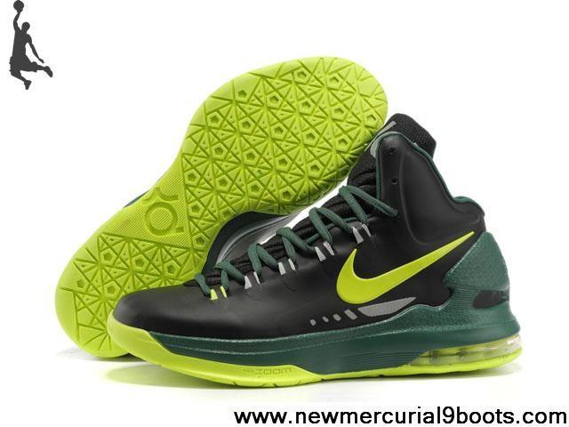 the latest 13eb1 fbfb8 Nike Zoom KD V 5 Black Green Yellow 554988 102 Basketball Shoes Shop