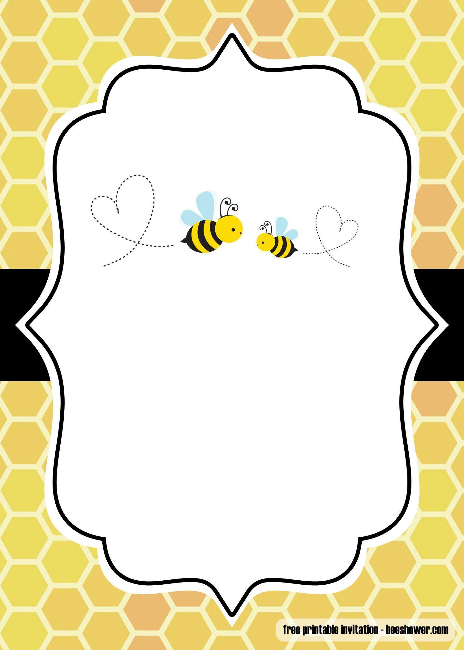 Free Printable Bumblebee Baby Shower Invitations Bumble Bee Baby Shower Invitation Bee Baby Shower Invitations Bee Invitations