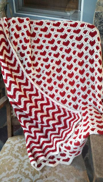 Hearts Waves Afghan Now Thats Just Awesome Beautiful Ravelry