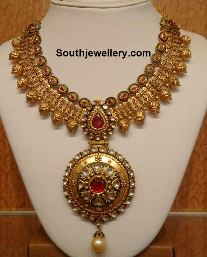 gorgeous Necklaces and Pendants | Beautiful Antique Gold Necklace ...