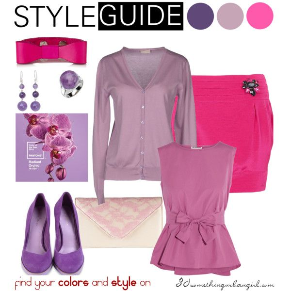 b4d6976d0c78 Radiant Orchid outfit ideas for Light Spring and Light Summer ...