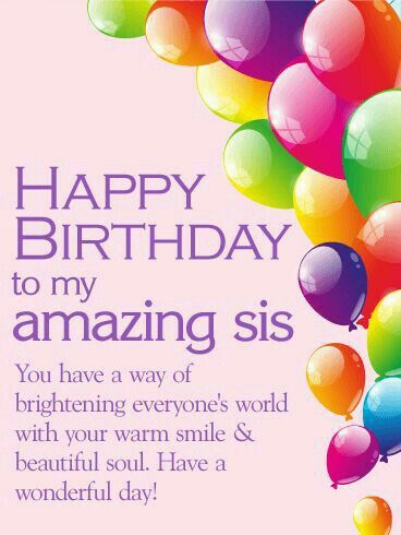 My Sweet Sister With Images Birthday Greetings For Sister