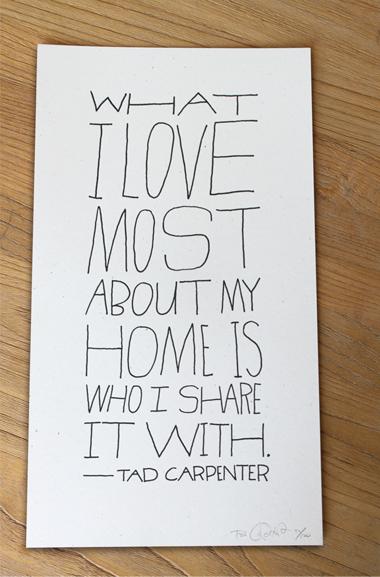 Home Print white - art prints - store - tad carpenter