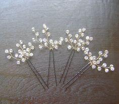 Bridal Crystals Hair Pin Wedding Accessories By Prettynatali 27 00