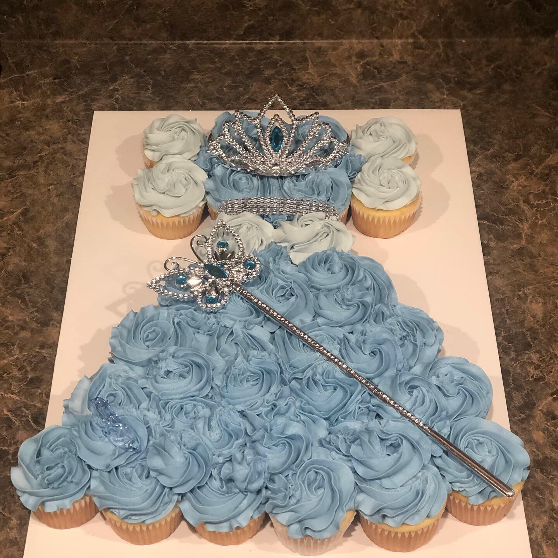 Outstanding Cinderella Cupcake Cake Princess Cupcake Cake Cinderella Funny Birthday Cards Online Inifodamsfinfo