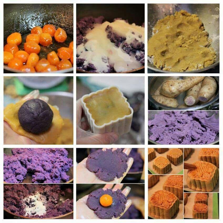 MidAutumn Festival Salted Egg Purple Yam Cake